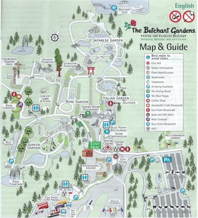 Butchart Gardens Map