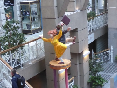 Whimsical Statue in the Mall