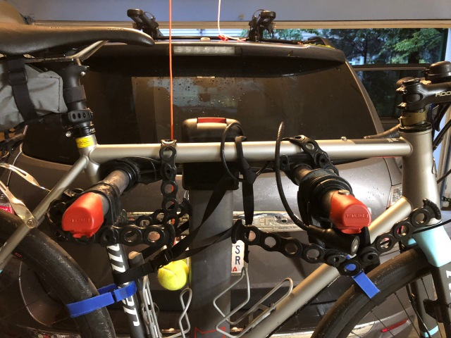 Bike Strapped in Place