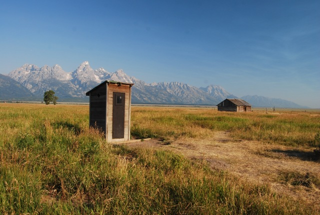 Mormon Row - Outhouse and Barn