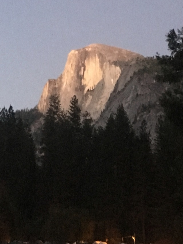 The Sun Setting on Half Dome