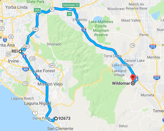 San Clemente to Wildomar