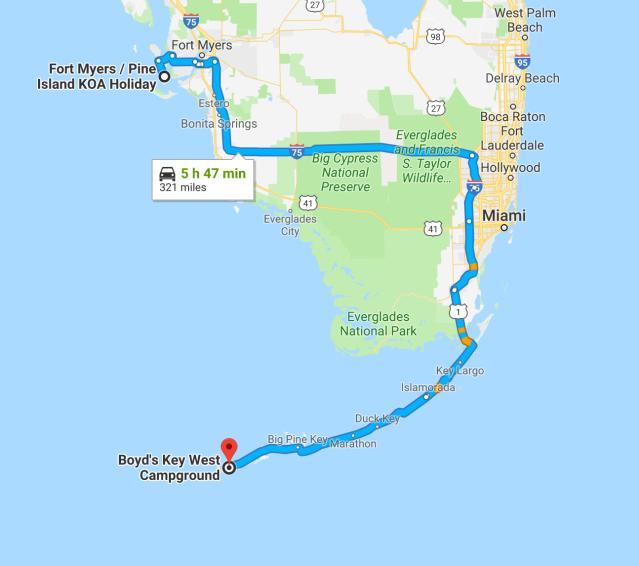 Pine Island to Key West