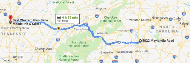 Charlotte to Nashville