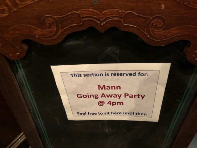 Farewell Party at the Flying Saucer