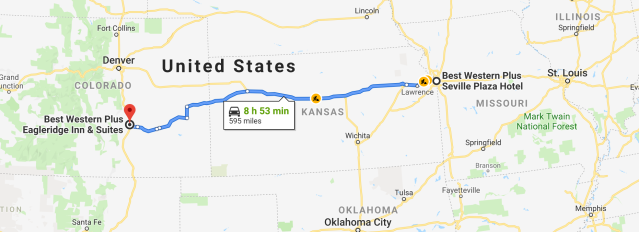 Kansas City to Pueblo