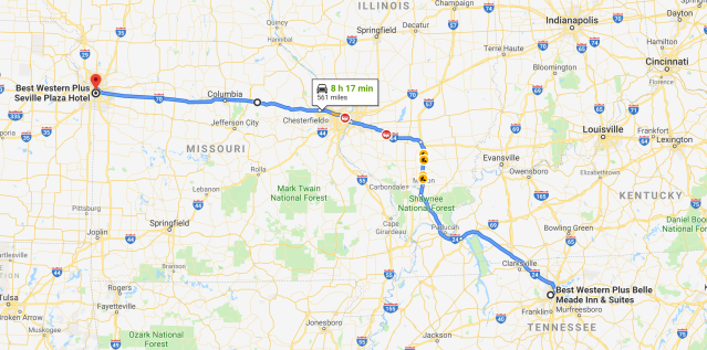 Nashville to Kansas City