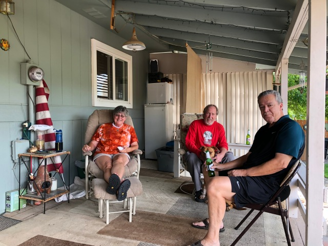 Sharon, Doug and JB on that back Porch
