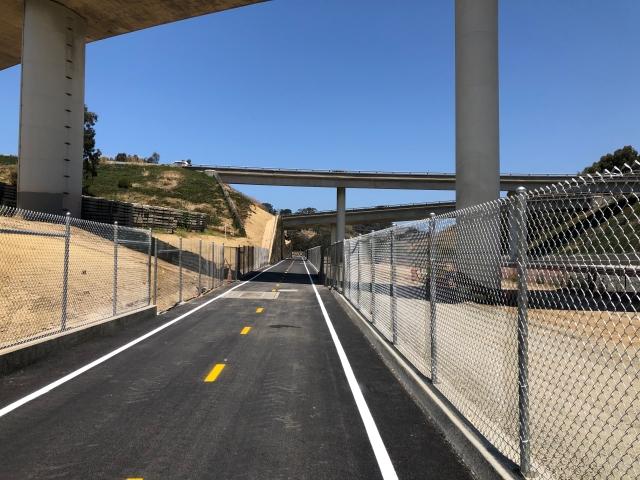 East Side Bike Path Heading to UCSD
