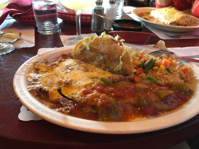 Taco and Chili Relleno Combo