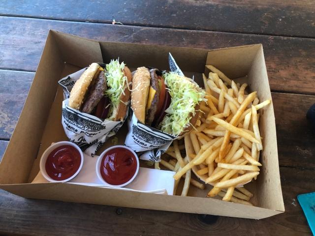 A Box of Jalama Burgers