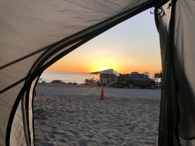 Sinking Sun from the Tent