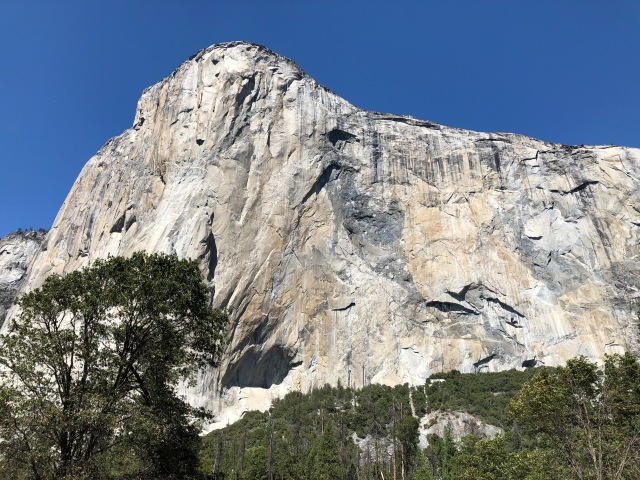 The Clmbing Face of El Capitan