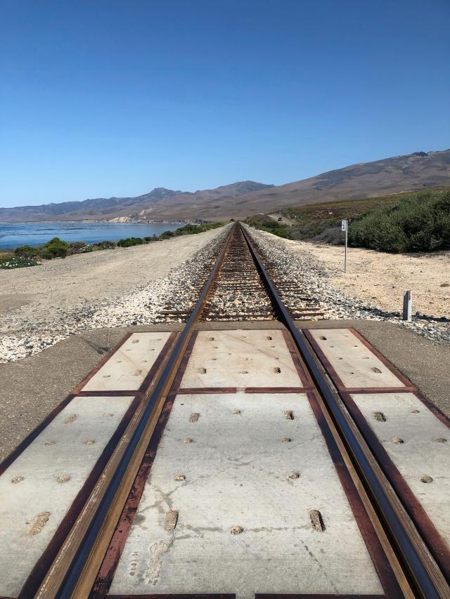 Train Tracks Running North