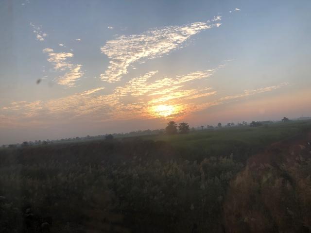 Sunrise on the Way to Aswan