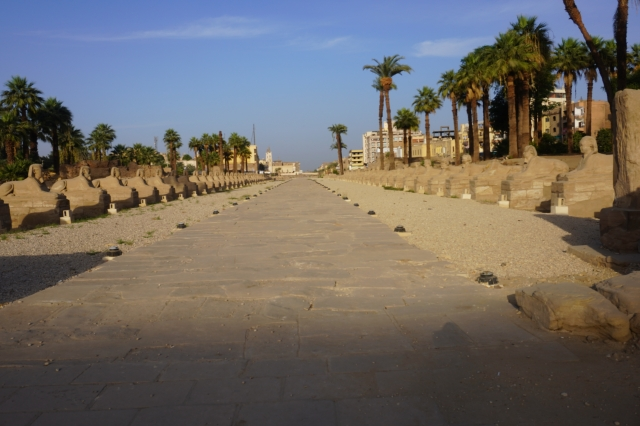 Avenue of the Sphynx Looking Towards Karnac Temple