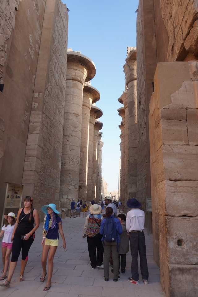 Entering the Hypostyle hall in the Precinct of Amun Re