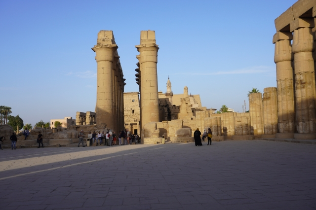 Looking Back Towards the Entrance and the Mosque Tower