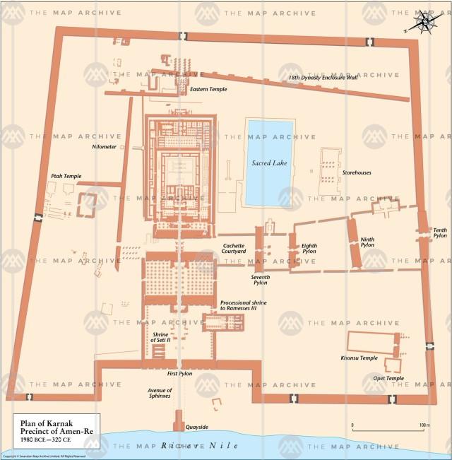Map of Karnak