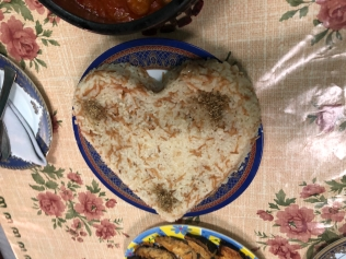 Rice in the Shape of a Heart