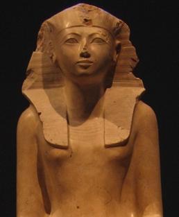 Statue of Hatshepsut on display at the Metropolitan Museum of Art