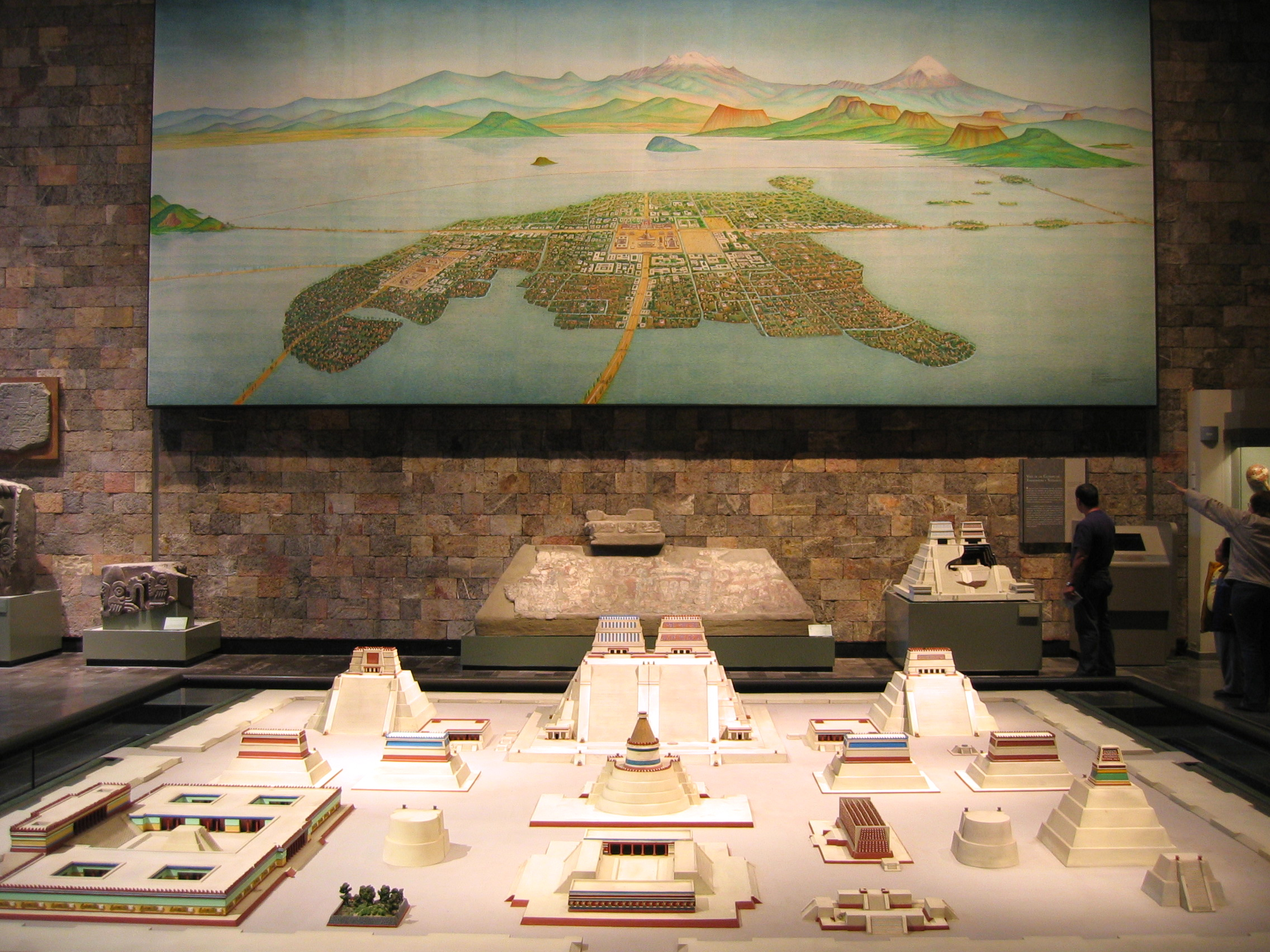 Model and Mural of Tenochtitlan