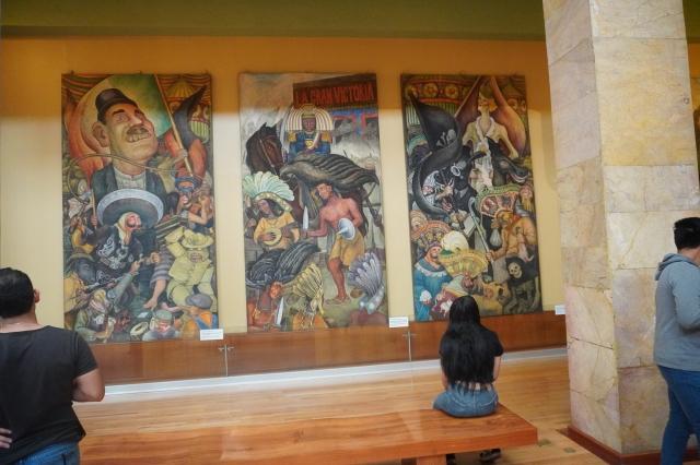 Three Panels of theCarnaval de la Vida Mexicana (Carnival of Mexican Life)