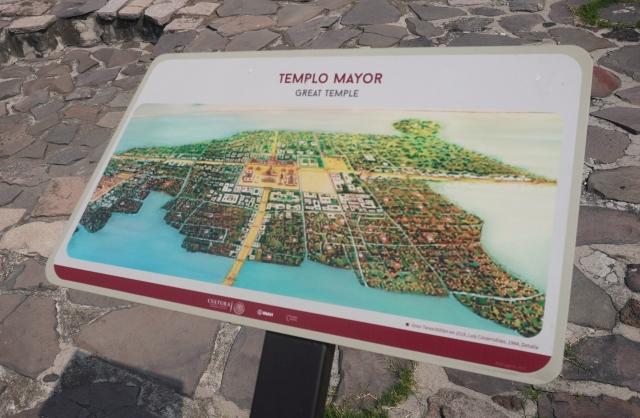 Templo Mayor Sign