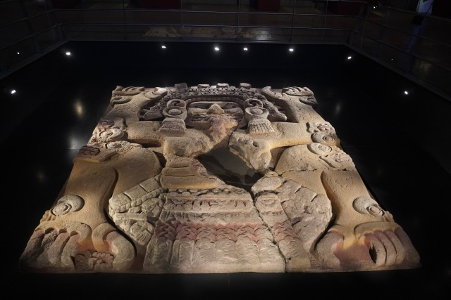 """Tlaltecuhtli monolith, """"The Lord or Lady of the Earth"""""""