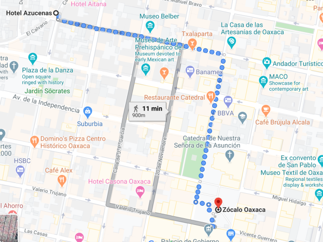 Walk to Zocalo