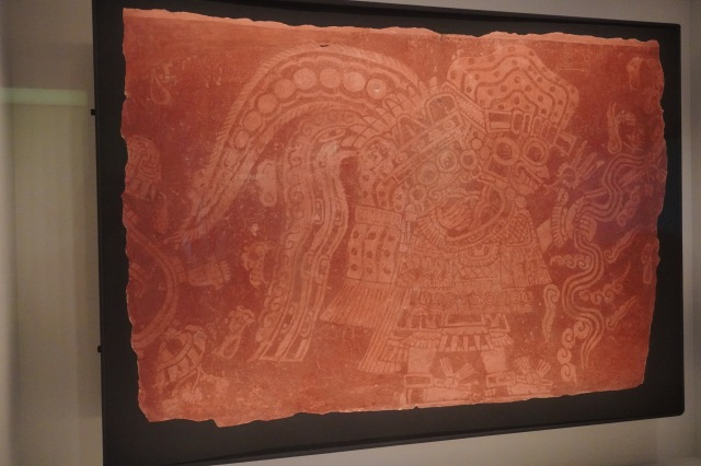 THE GOD TLALOC, FRAGMENT OF WALL PAINTING