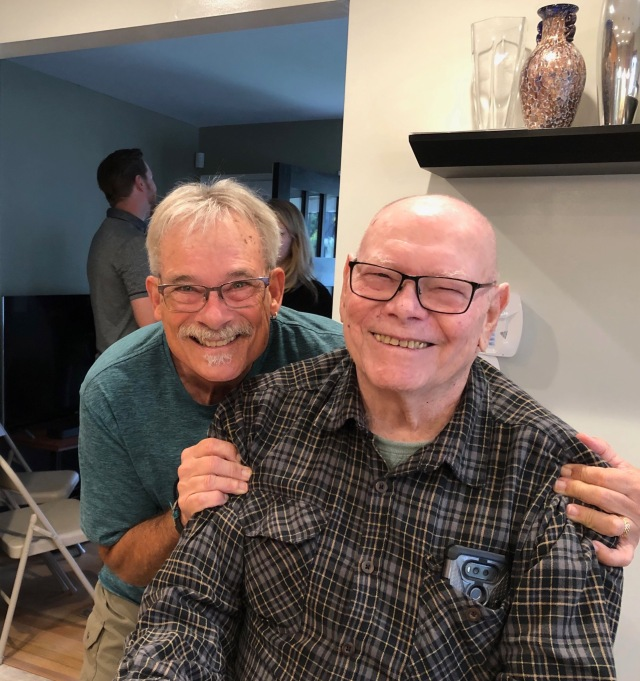 Jerry and Uncle Dick at the Shower