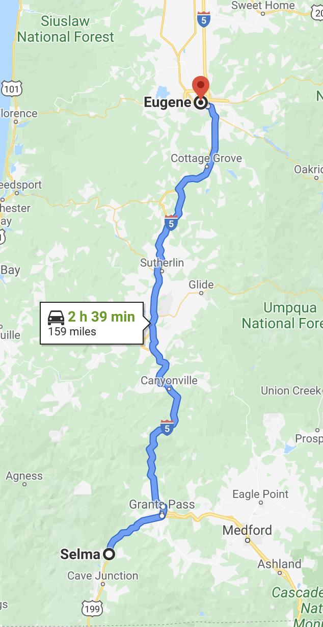 Selma to Eugene