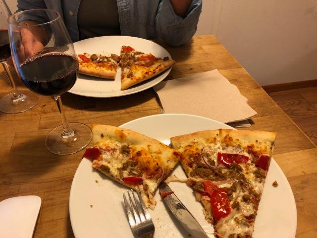 Mama's Pork and Peppa pizza
