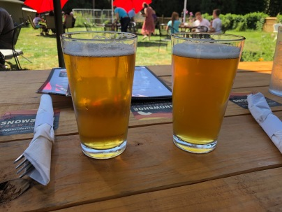 Alpine Pilsner and Apricot Wheat