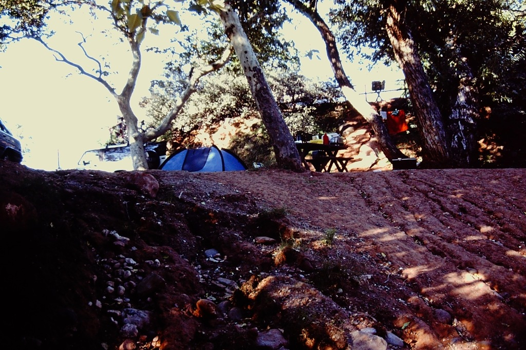 Our Campsite by the Creek