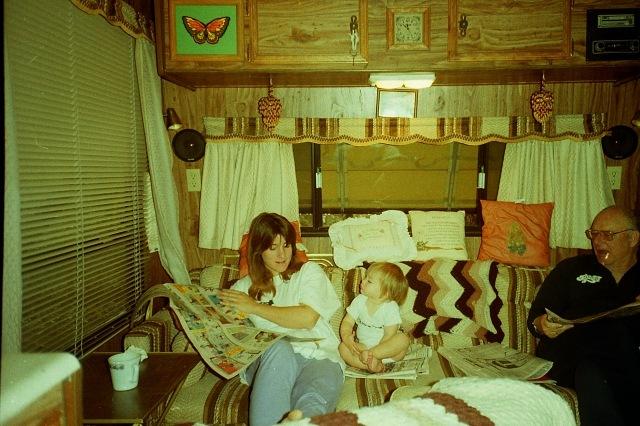 Joanna, Jessica, and Dad - 1990