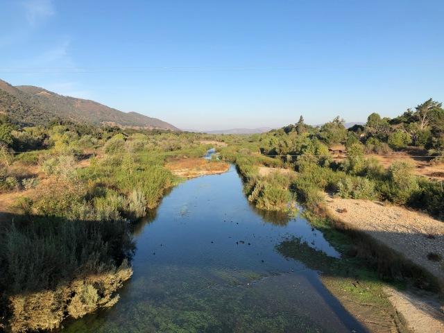 Crossing the Santa Inez River