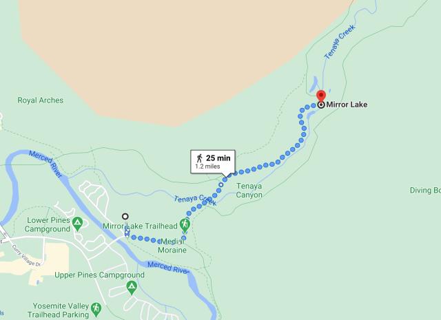 Equestrian Center to Mirror Lake