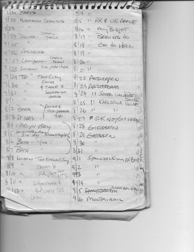 Europe 1977 Itinerary 1