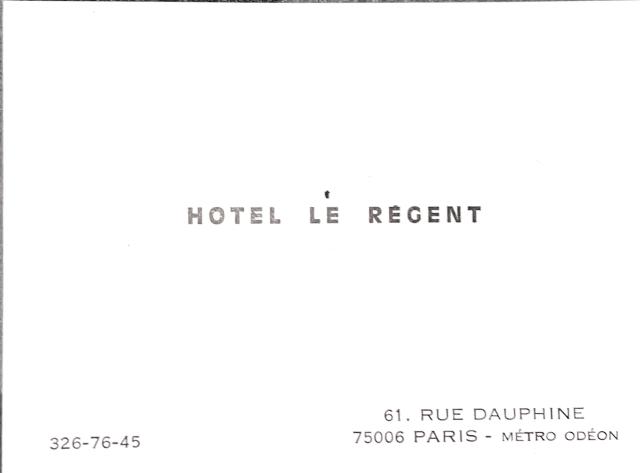 Paris Hotel 1977