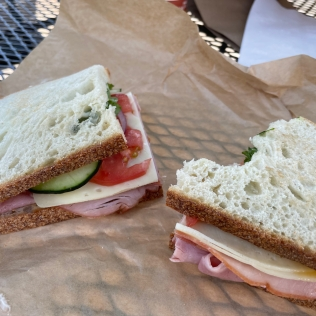 Ham and Swiss on Sourdough