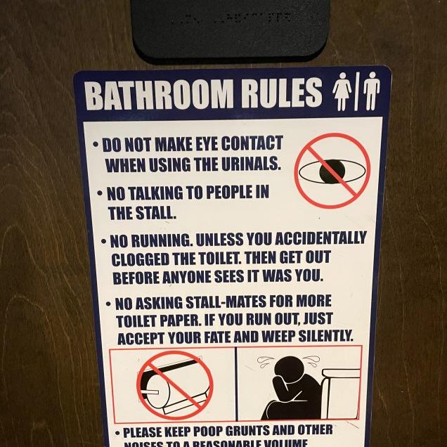 Bathroom Sign 1