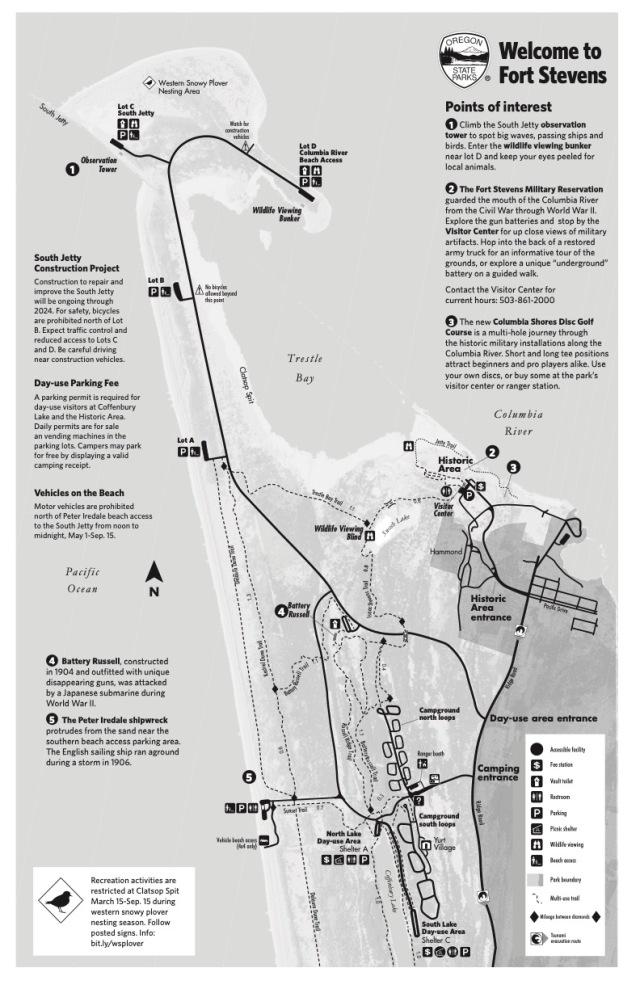 Fort Stevens Map